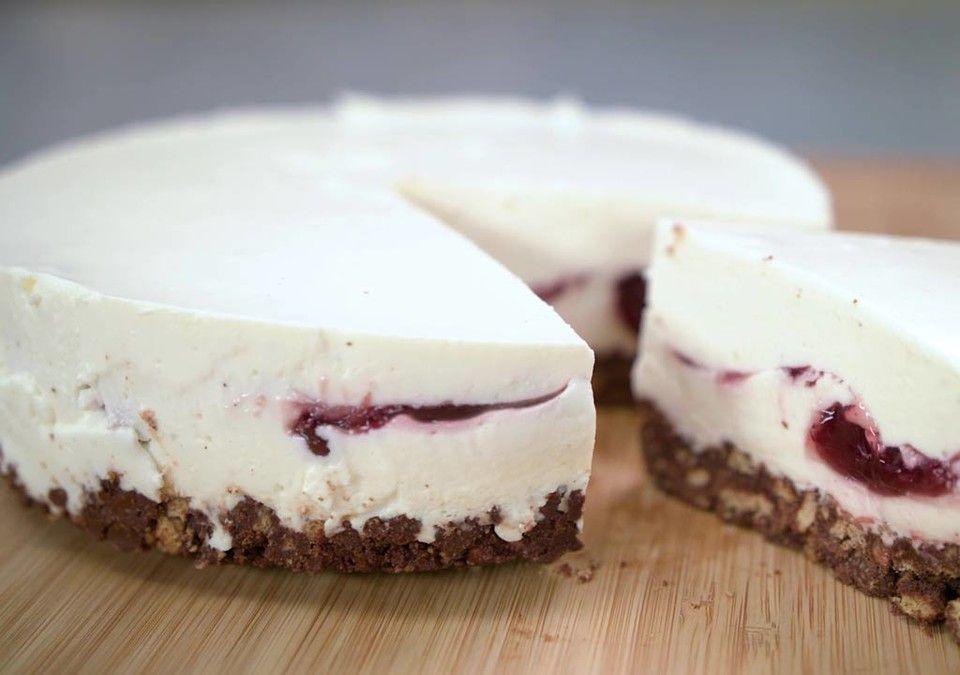 No Bake Cheesecake Mit Roter Grutze Rezept In 2020 Rezepte Rote Grutze Kuchen Ohne Backen