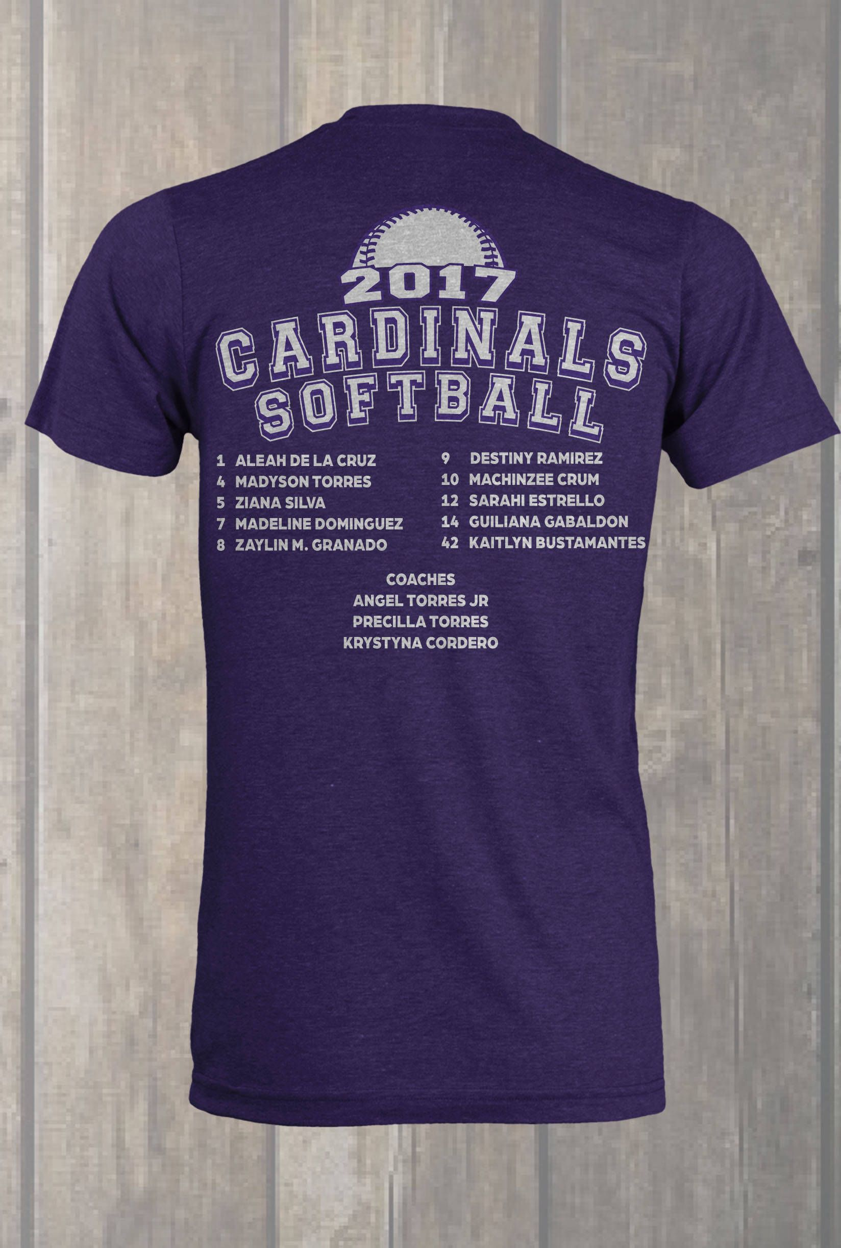 Custom Softball Roster T Shirt Design Designs Softball Softball