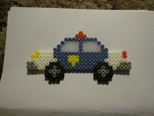 Perler Bead Police Car Fuse Beads Beads Perler Beads Diy