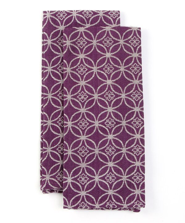 Take a look at this Purple Infinity Dish Towel - Set of Two on zulily today!