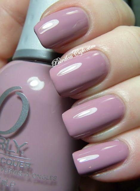 petit four\' mauve nail polish by Orly … | Orly Nail Polish | Mauve…
