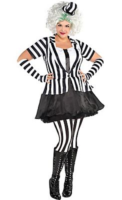 533628afea Adult Mrs. Beetlejuice Costume Plus Size