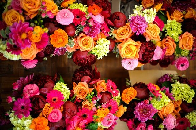 #bright wedding flowers, #fall wedding, #bright wedding, #wedding flowers, #color