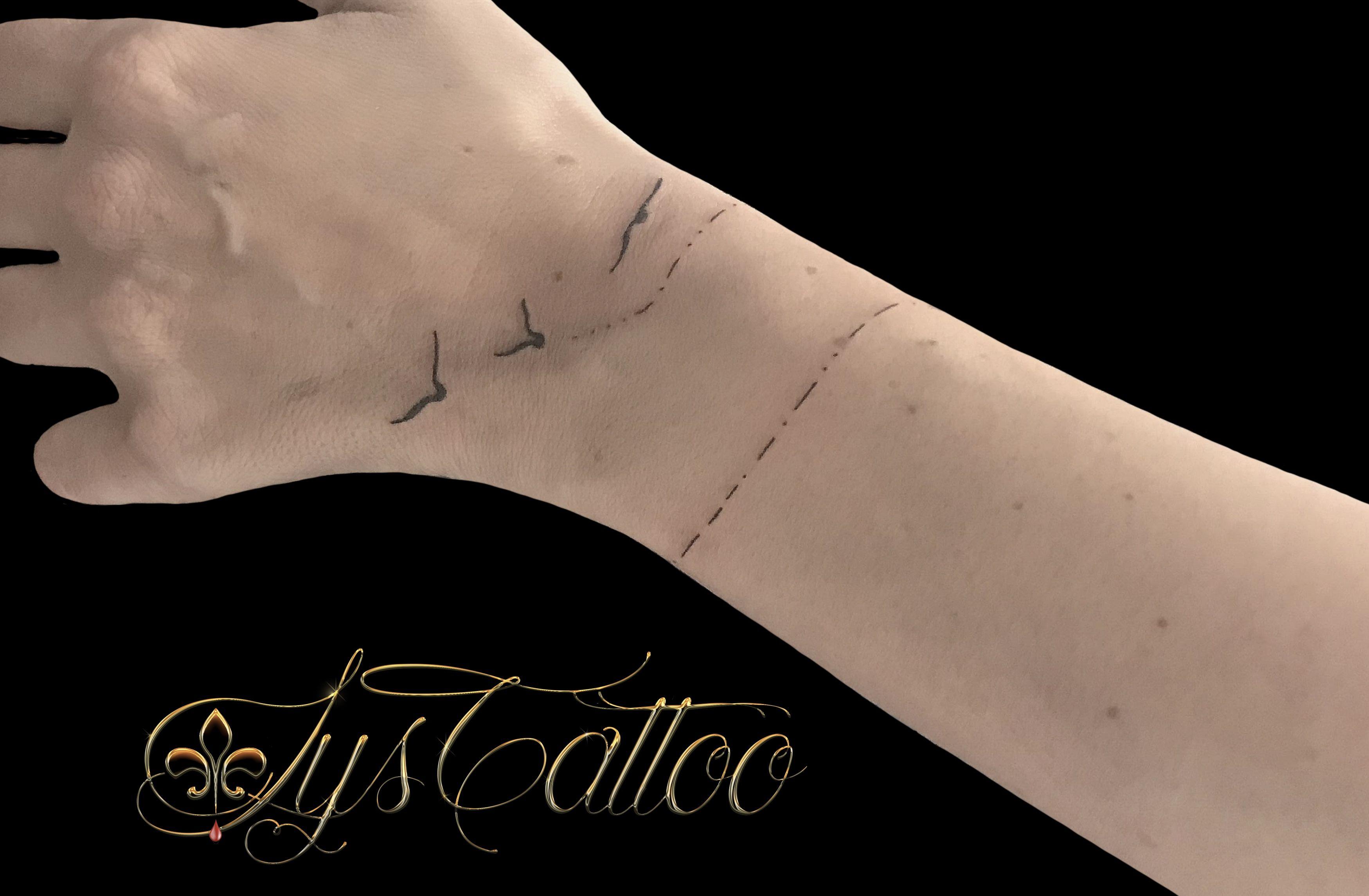 Tatouage Autour Du Poignet Main Bracelet Femme Oiseaux Qui S