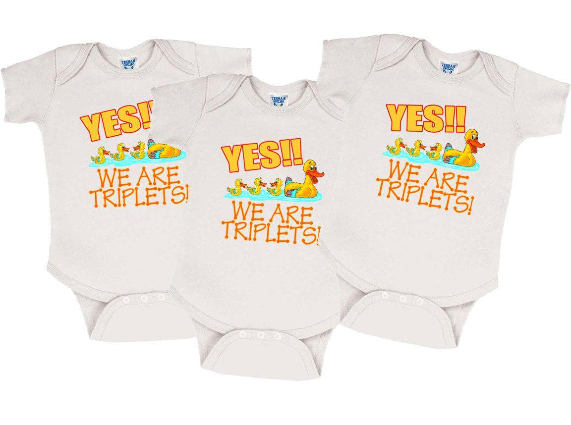 13a45422 Triplet Onesies - Set of 3