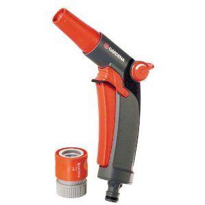 Gardena 9100 Comfort Garden Hose Spray Nozzle With Quick Connect