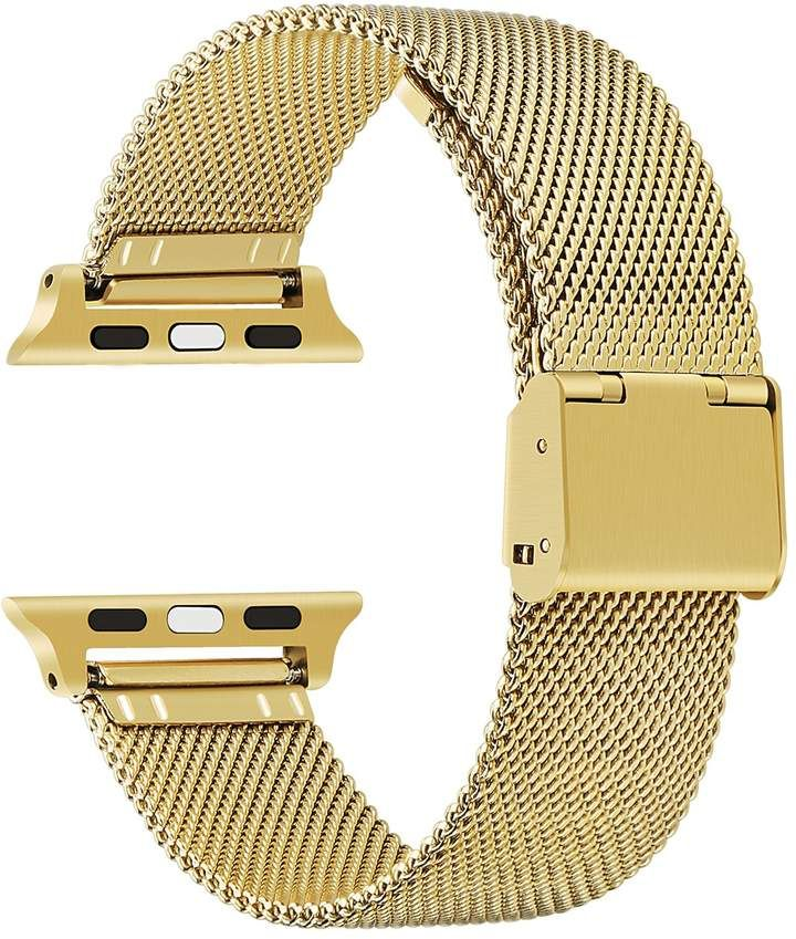 POSH TECH Gold Stainless Steel 42mm Apple Watch 1\u002F2
