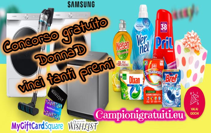 """Concorso DonnaD """"Party Game"""" vinci buoni, prodotti o elettrodomestici"""