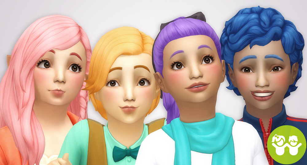 Noodlesu2014 Kids Room Stuff Hair Recolors All Hairs From The.