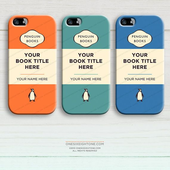 Penguin Book Phone Cover : Personalized penguin book cover for iphone classic