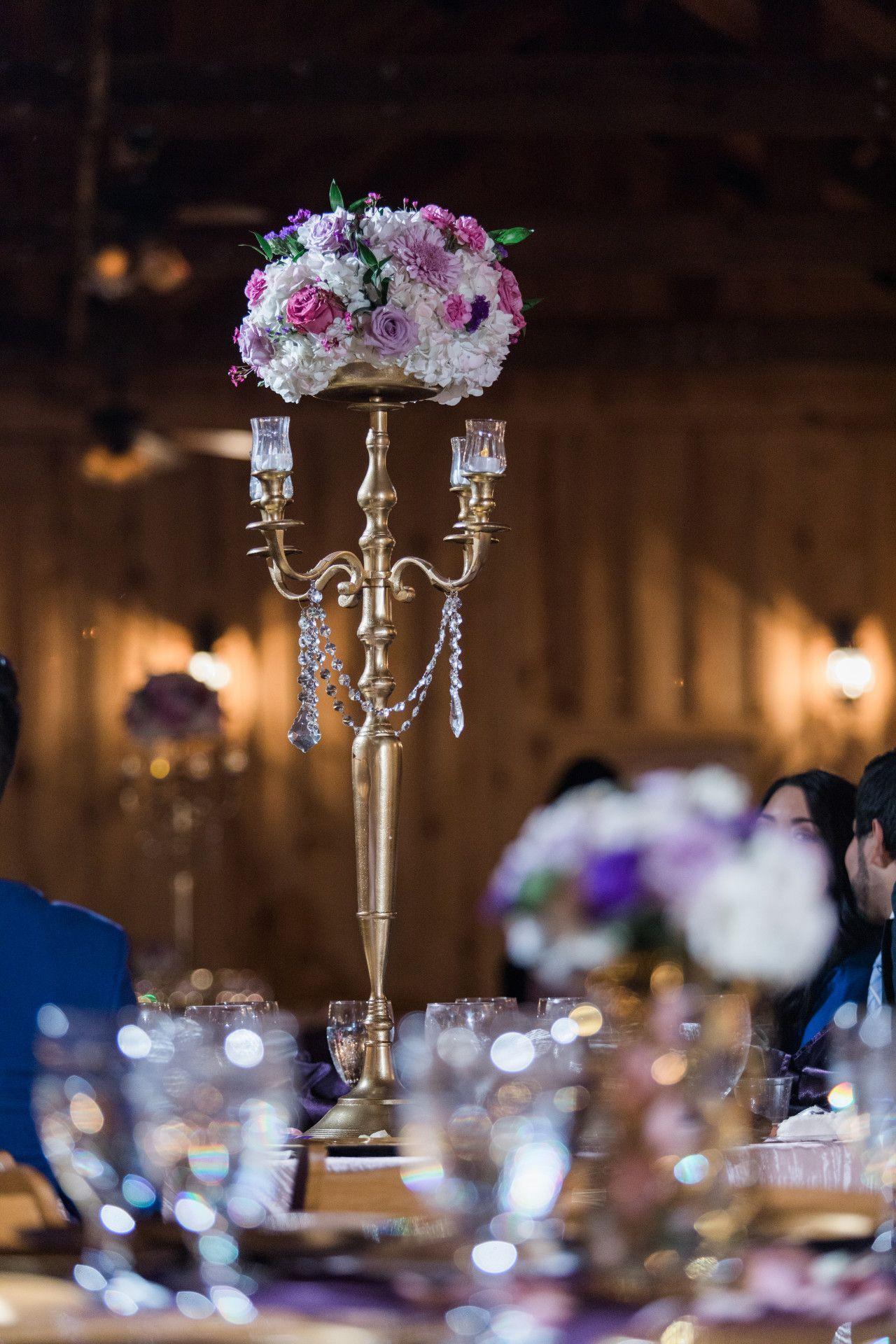 Elegant Lavender Wedding Centerpiece - Luxury Lavender Wedding Table Centerpiece