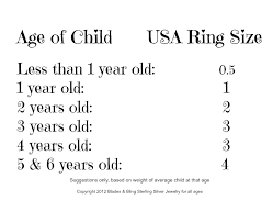 Image Result For Ring Size Chart For Children Jewelry Fun