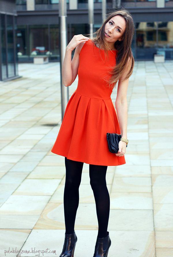 Orange Winter Dresses