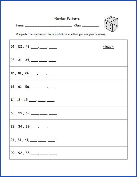 math number patterns worksheet 2nd grade math pinterest number patterns worksheets number. Black Bedroom Furniture Sets. Home Design Ideas