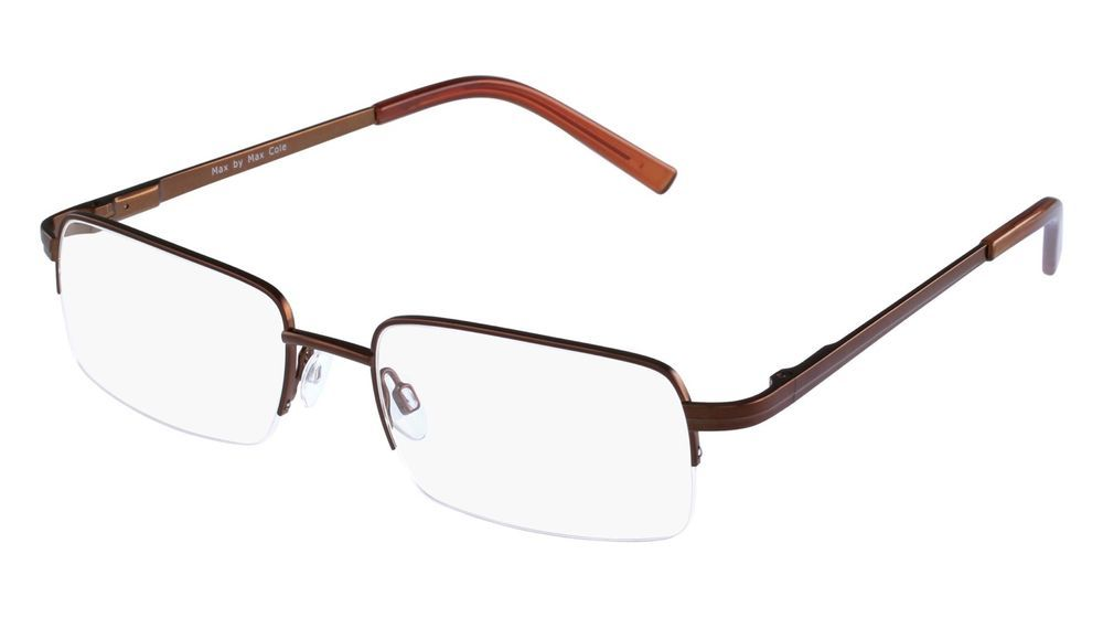 5fd4b064f8f Max by Max Cole Prescription Eyewear Frames High Fashion MMC 03  Brown(Tag- 99.99  MaxByMaxCole  Rectangular  frames  Glasses  eBay  Auction   Sale  Wholesale ...