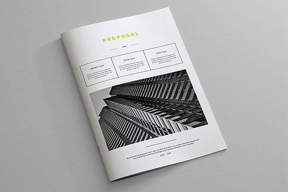 Indesign Business Proposal Template Proposals, Business proposal - graphic design proposal example
