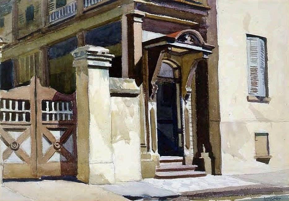 Edward Hopper Charleston Doorway, 1929, Everson Museum