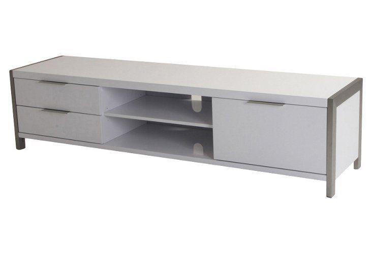 Neo Tv Console White Silver Security Cameras