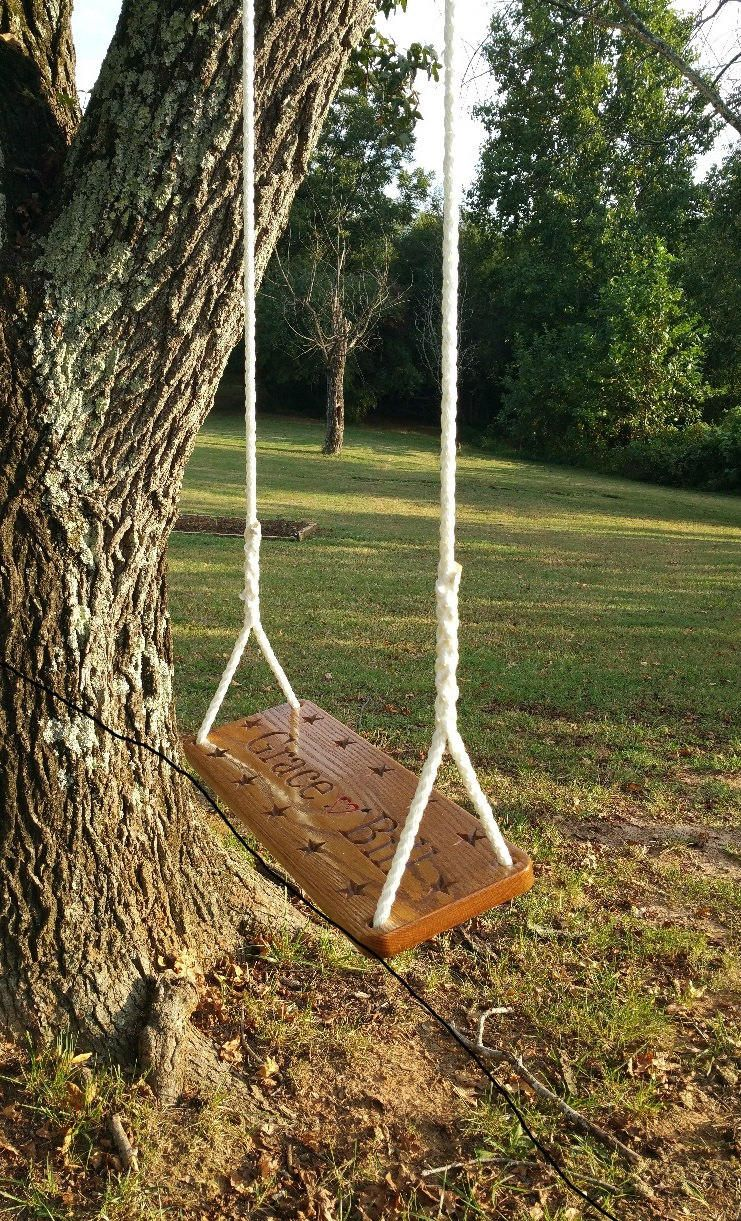 x u thick decorated personalized tree swing feet of white
