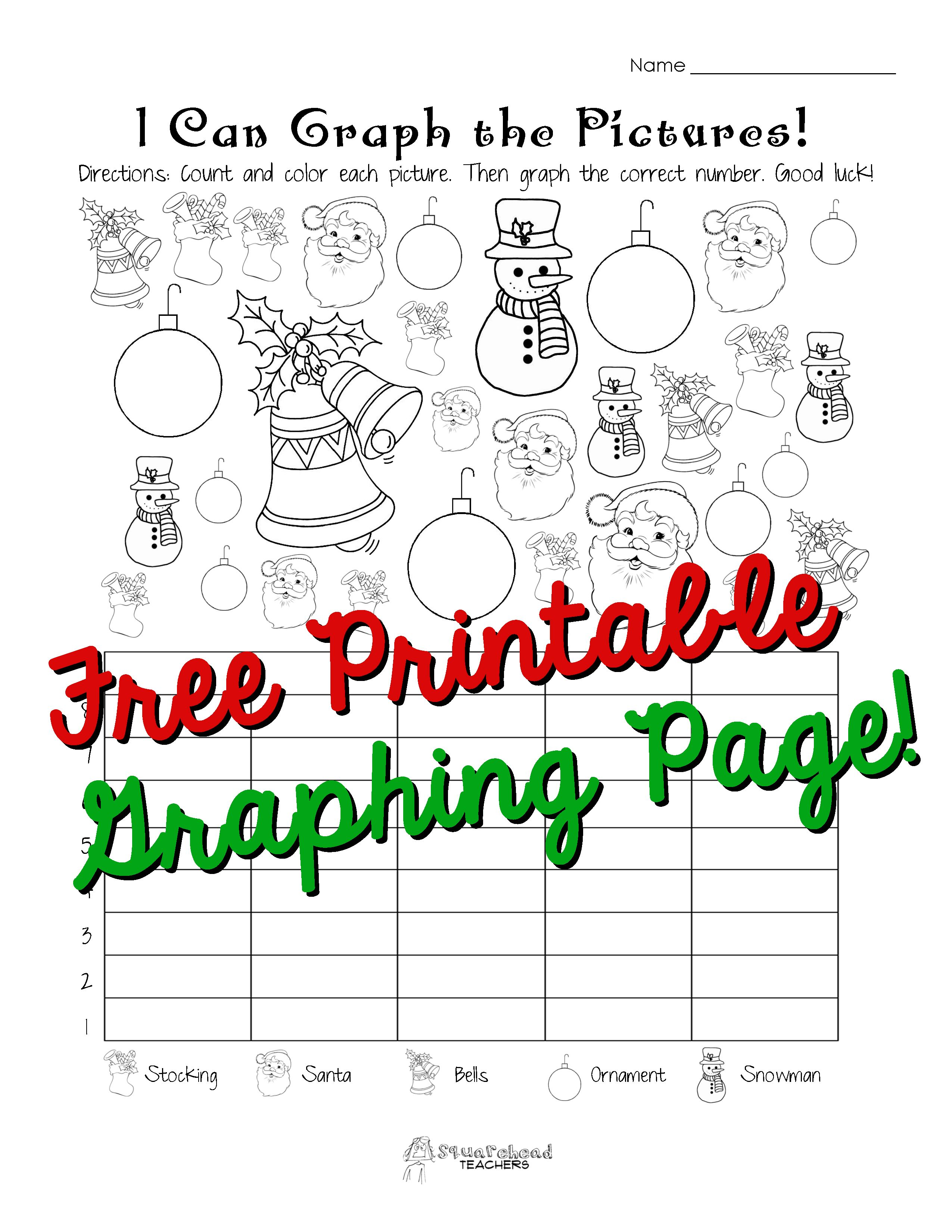Holiday Graphing Page Kindergarten First Grade