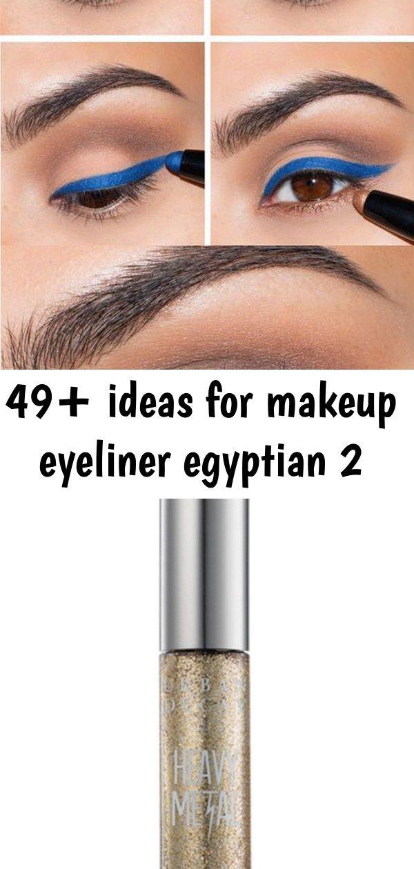 49+ ideas for makeup eyeliner egyptian 2 #glittereyeliner