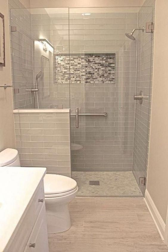 32 Bathroom Shower Ideas That Will Inspire You In 2020 Small Bathroom Makeover Small Bathroom Moder Bathroom Design