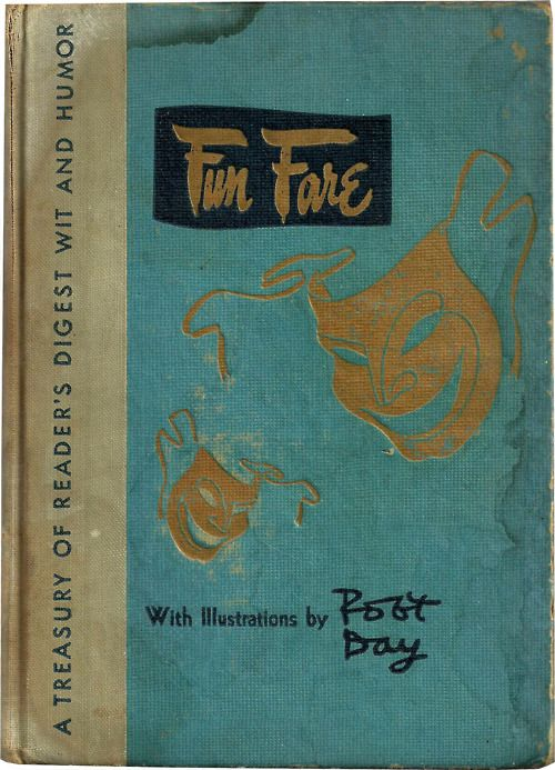 Fun Fare by The Reader's Digest - Vintage Joke Humor Comedy Performance Book Turquoise Gold Black 1940's $5.00