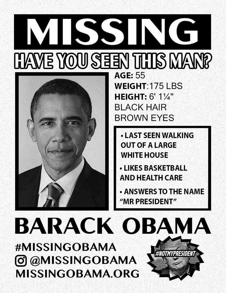 MISSING OBAMA The missing poster links to the website You can also