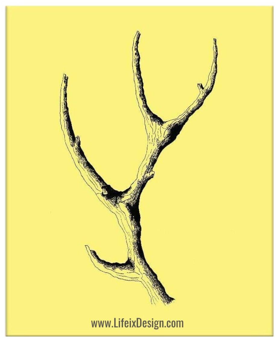 Buy Wooden Antler Artwork by Ayarti at Lifeix Design for only ...