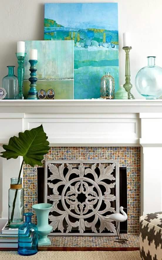 Beach House Decor For A Breezy Summer Mantel Display