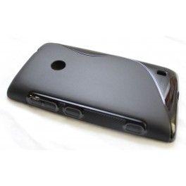 Käytännöllinen silikoni suojakuori Nokia Lumia 520 puhelimeen.