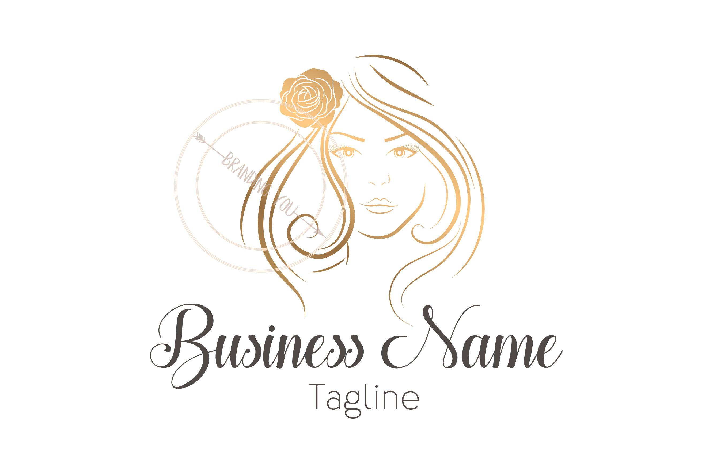 Custom Logo Gold Lady Lashes Logo Beauty Lady Eyelash Logo