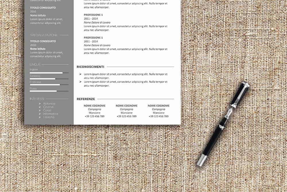 Modello Curriculum Da Scaricare E Compilare Formato Conti Ad Una O Due Pagine Con Lettera Di Pres Modello Curriculum Lettera Di Presentazione Curriculum Vitae