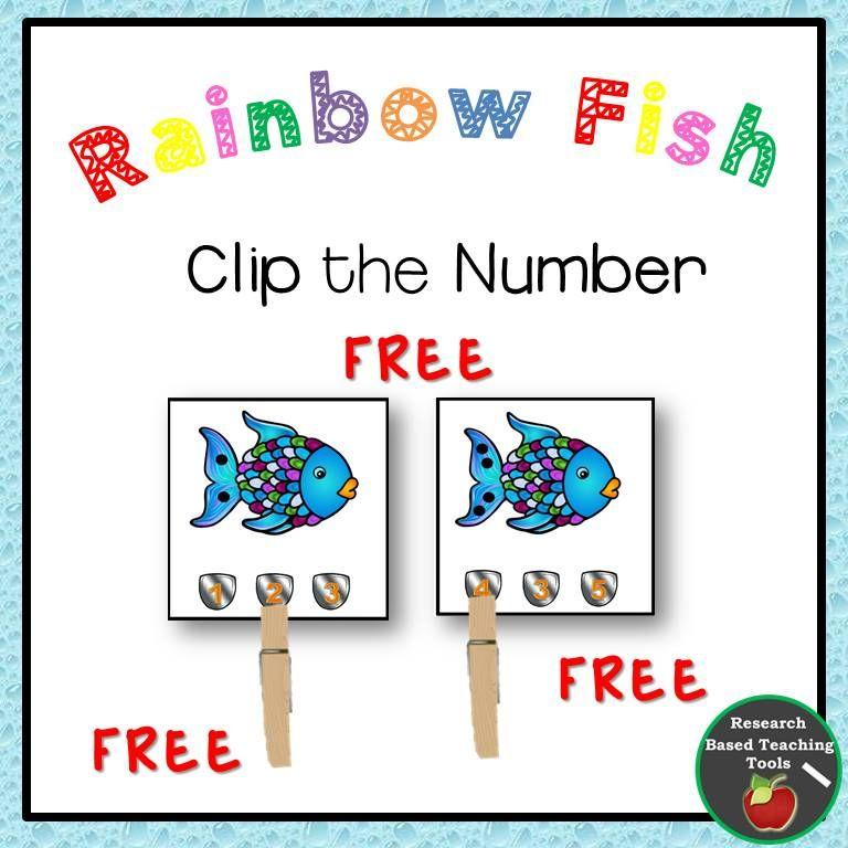 Rainbow Fish Free Math Task Cards Free Math Task Cards Rainbow Fish Rainbow Fish Activities