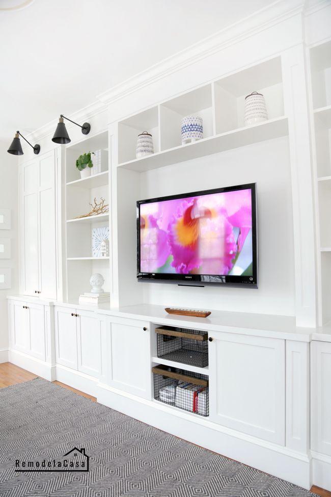 Photo of Family room built-in – fast closet doors – DIY – built-in family …