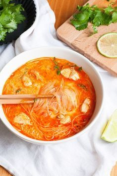 Photo of Spicy 20-minute Thai Chicken Soup – Cooking Carousel