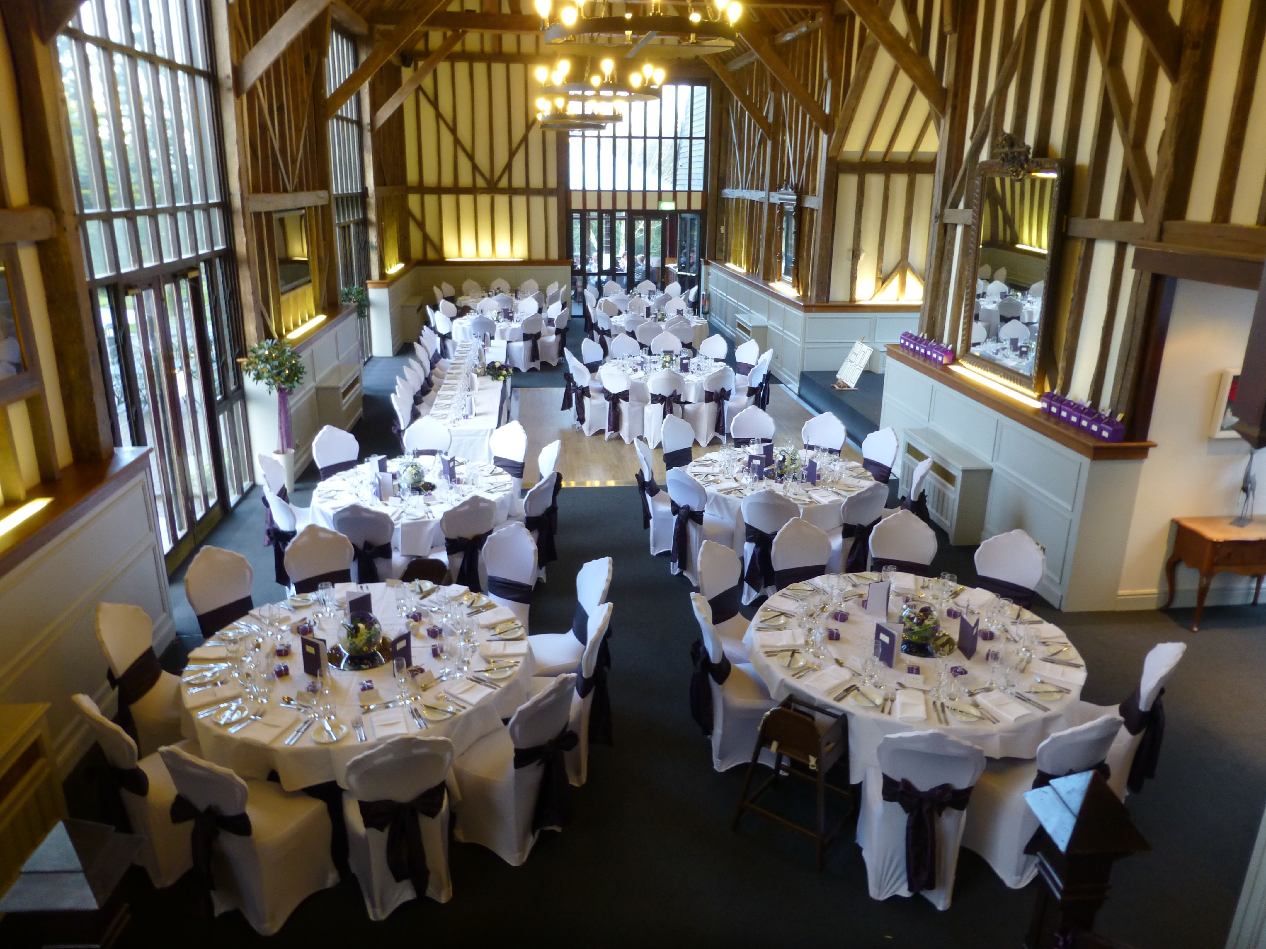 Essendon Country Club with White linen and White chair covers
