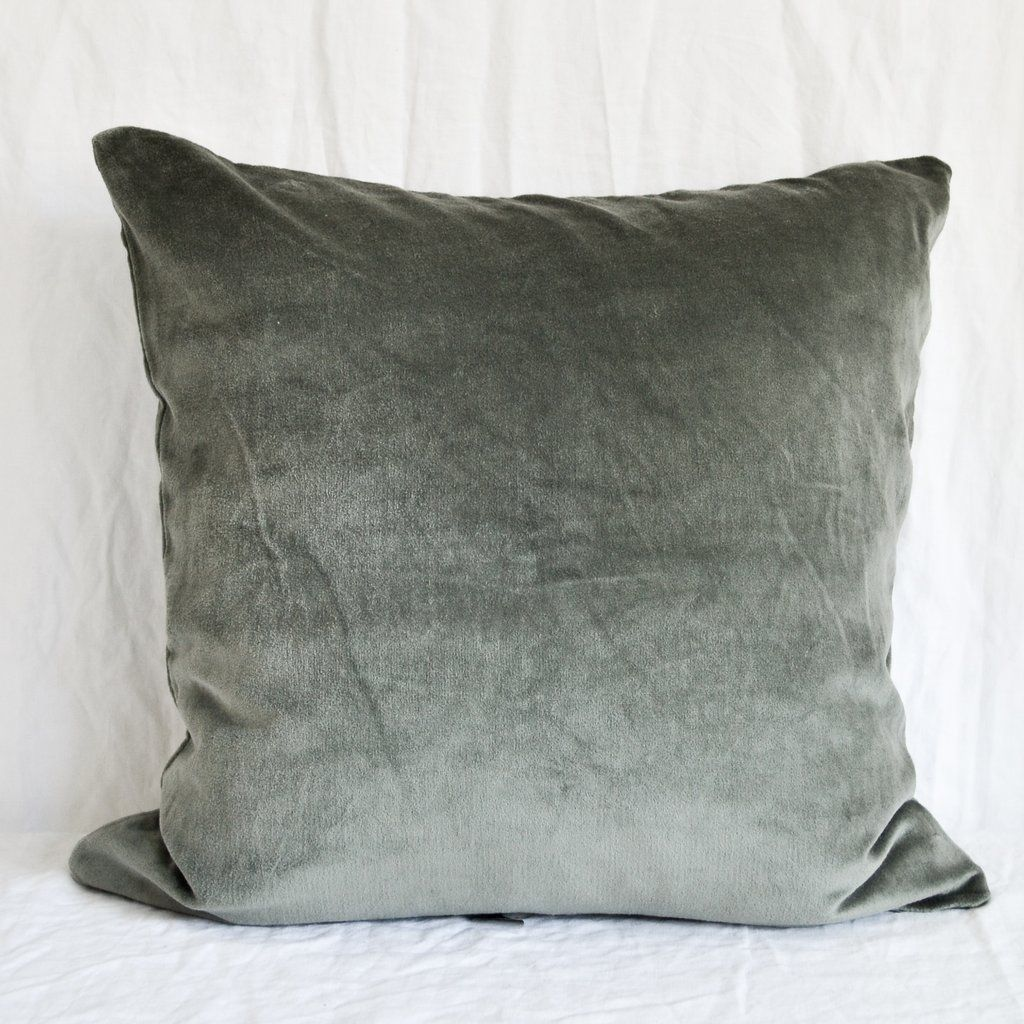 Sage Green Velvet Cushion Cover Green Cushions Velvet Cushions Green Cushions Living Room