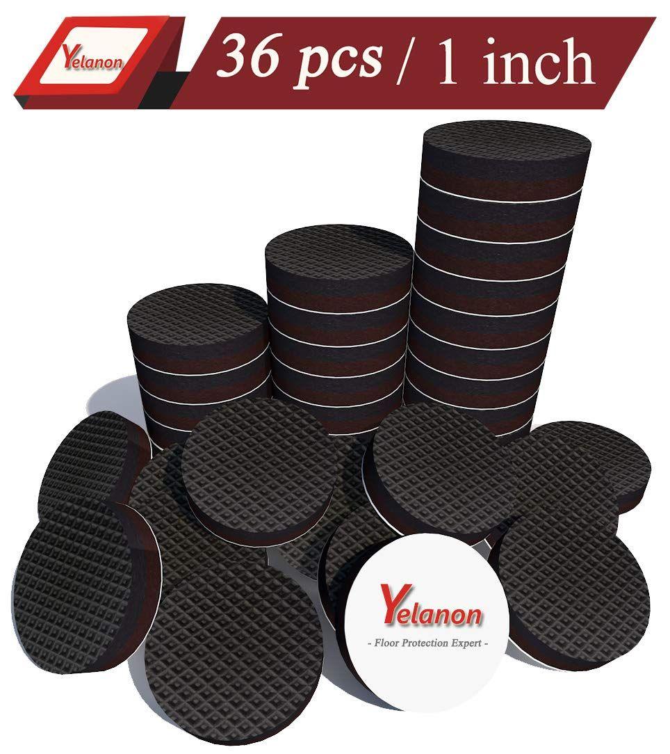 Yelanon Non Slip Furniture Pads 36 Pcs 1 Anti Skid Furniture Pads