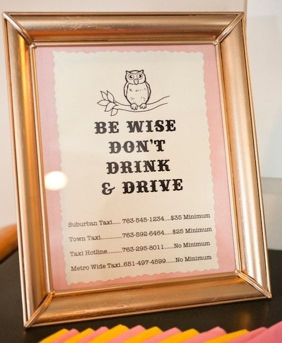 A fantastic idea for your guests is to provide some information for