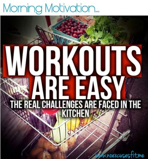 The Real Challenge is not in the gym, it's in the KITCHEN. #morning #motivation #workout http://paleoaholic.com/