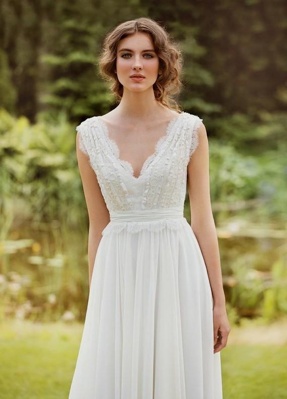 boho chic wedding dress (06)   Trendy Boho, Vintage, Gypsy ...