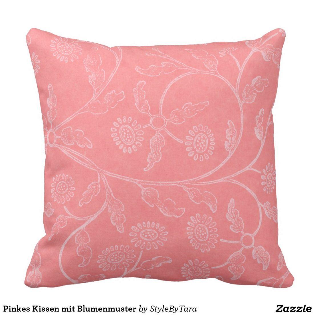 Pinkes Kissen Mit Blumenmuster Kissen Design Pink Kissen