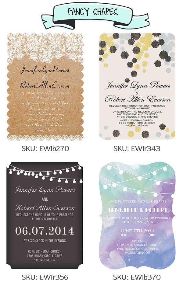 Fancy Shapes Elegantweddinginvites Affordable Wedding Invitations Chic Wedding Invitations Cheap Wedding Invitations