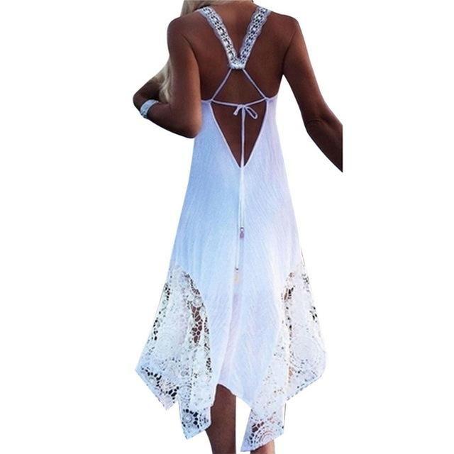 76c61de56fa2 NEW 2018 CALOFE Long Beach Swimwear Dress Lace Cover (Plus Size Available)