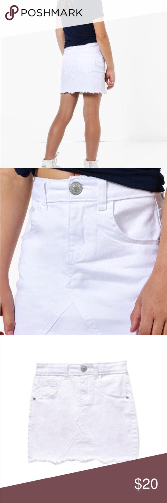 6d5de8c0f girls fray edge denim skirt white girls fray edge denim skirt white pink  apple Bottoms Skirts