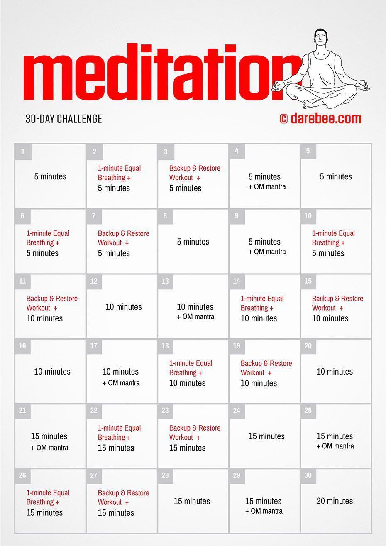 30-Day Meditation Challenge by DAREBEE # ...