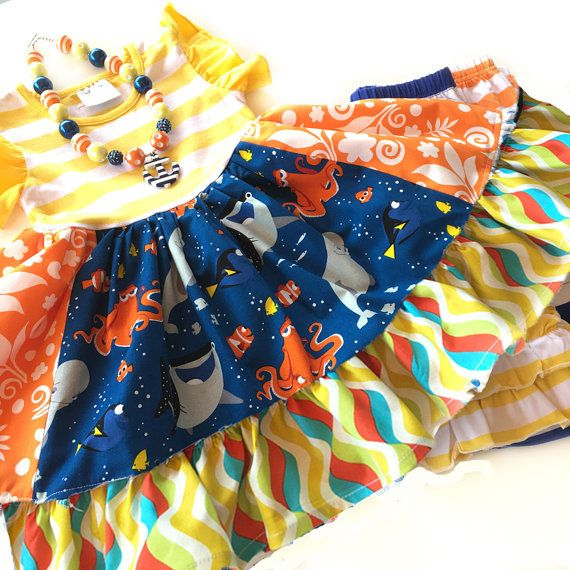 Finding Dory dress Disney Nemo girl boutique by momiboutique  Worn by the most unique & best dressed boutique girls!