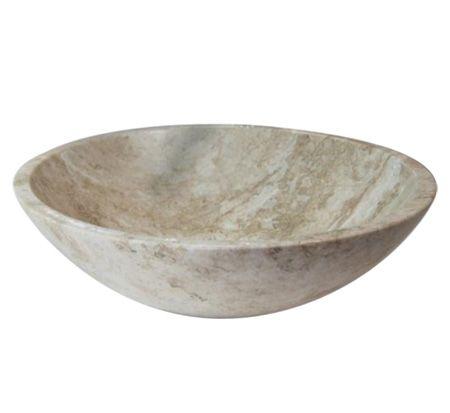 Navona Travertine Round Stone Basin 299 Bathroom Warehouse