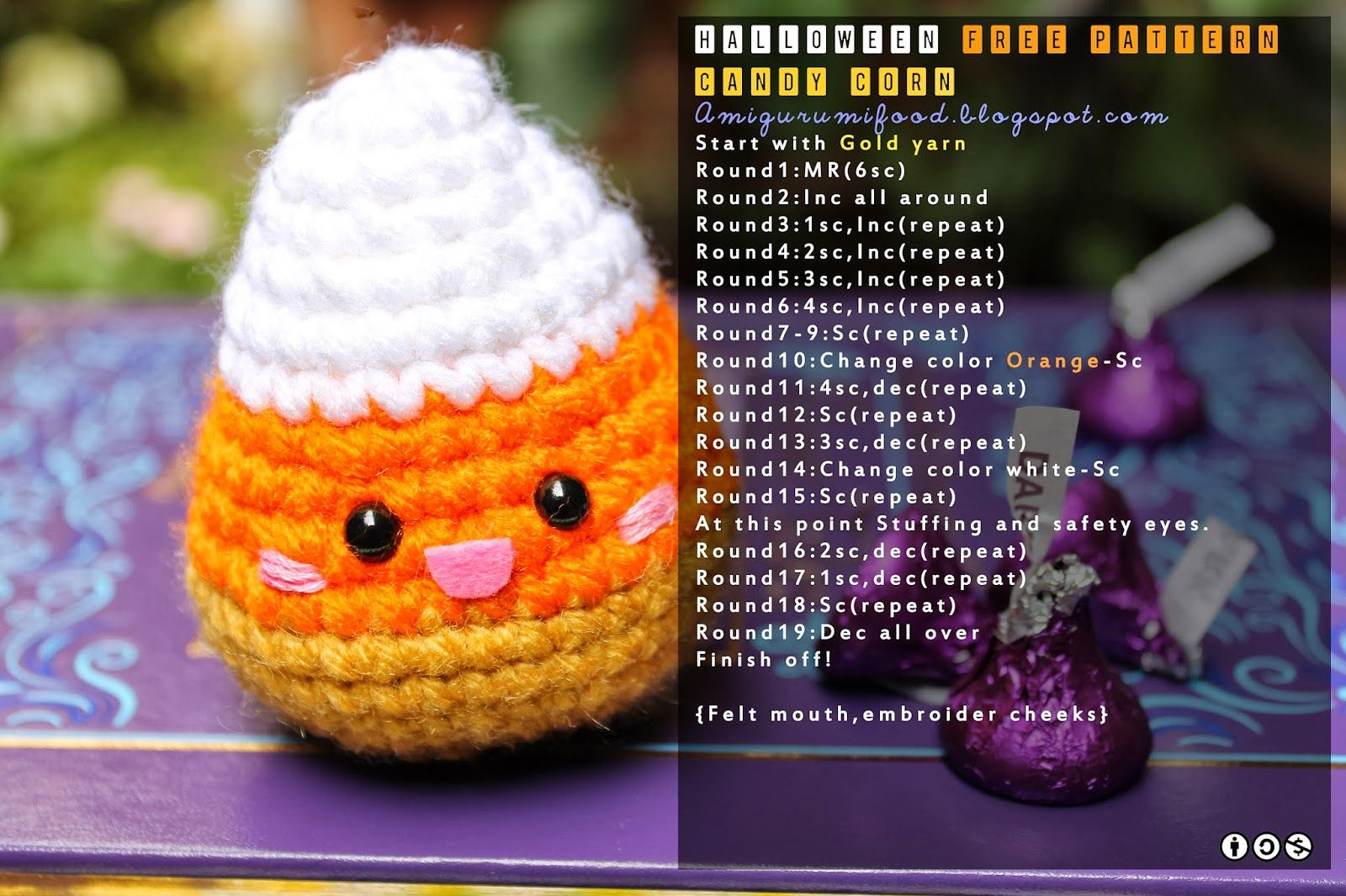 Amigurumi Halloween Free : Halloween amigurumi food: candy corn free pattern patterns